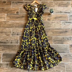 A.L.C | Valencia Silk Cut Out Floral Dress NWT